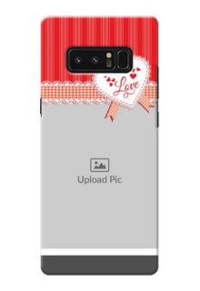 Samsung Galaxy Note8 Red Pattern Mobile Cover Design