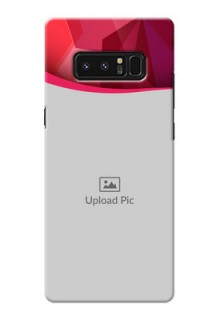 Samsung Galaxy Note8 Red Abstract Mobile Case Design