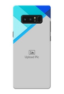 Samsung Galaxy Note8 Blue Abstract Mobile Cover Design