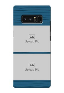 Samsung Galaxy Note8 Blue Pattern Mobile Case Design