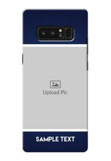 Samsung Galaxy Note8 Simple Blue Colour Mobile Cover Design