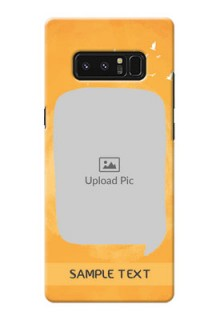 Samsung Galaxy Note8 watercolour design with bird icons and sample text Design Design