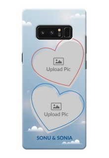 Samsung Galaxy Note8 couple heart frames with sky backdrop Design
