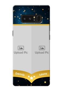 Samsung Galaxy Note8 2 image holder with galaxy backdrop and stars  Design