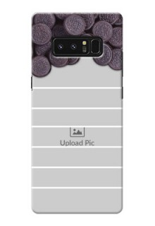 Samsung Galaxy Note8 oreo biscuit pattern with white stripes Design Design
