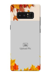 Samsung Galaxy Note8 autumn maple leaves backdrop Design