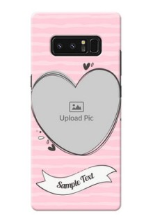 Samsung Galaxy Note8 seamless stripes with vintage heart shape Design