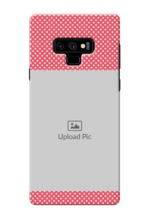 Samsung Galaxy Note 9 Custom Mobile Case with White Dotted Design
