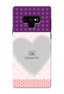 Samsung Galaxy Note 9 Mobile Back Covers: Violet Love Dots Design