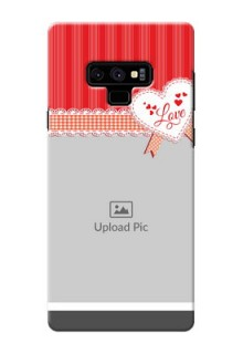 Samsung Galaxy Note 9 phone cases online: Red Love Pattern Design