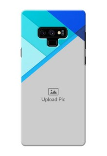 Samsung Galaxy Note 9 Phone Cases Online: Blue Abstract Cover Design