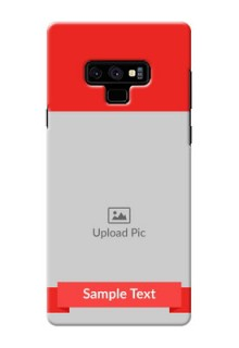 Samsung Galaxy Note 9 Personalised mobile covers: Simple Red Color Design