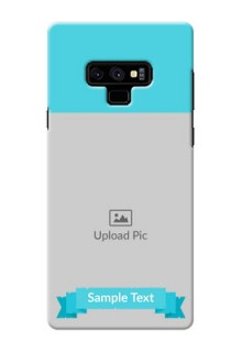 Samsung Galaxy Note 9 Personalized Mobile Covers: Simple Blue Color Design