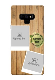 Samsung Galaxy Note 9 Custom Mobile Phone Covers: Wooden Texture Design