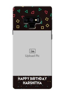 Samsung Galaxy Note 9 custom mobile cases with confetti birthday design