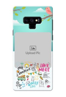 Samsung Galaxy Note 9 phone cases online: Doodle love Design