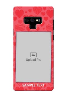 Samsung Galaxy Note 9 Mobile Back Covers: with Red Heart Symbols Design