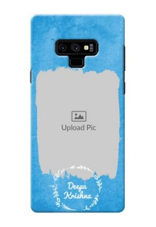 Samsung Galaxy Note 9 custom mobile cases: Blue Color Vintage Design