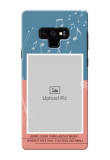 Samsung Galaxy Note 9 Phone Back Covers with Color Musical Note Design