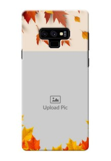 Samsung Galaxy Note 9 Mobile Phone Cases: Autumn Maple Leaves Design