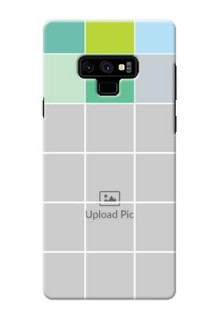 Samsung Galaxy Note 9 personalised phone covers with white box pattern