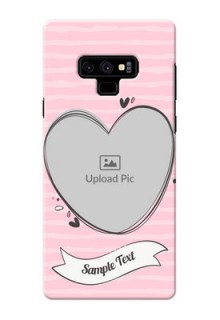 Samsung Galaxy Note 9 custom mobile phone covers: Vintage Heart Design