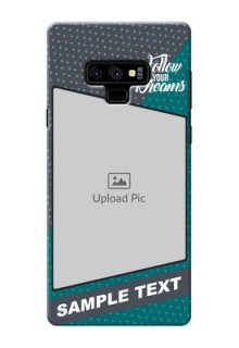 Samsung Galaxy Note 9 Back Covers: Background Pattern Design with Quote