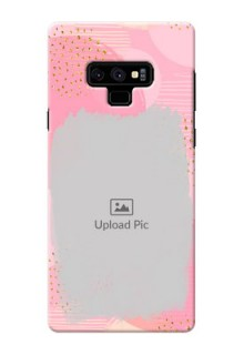 Samsung Galaxy Note 9 Phone Covers for Girls: Gold Glitter Splash Design