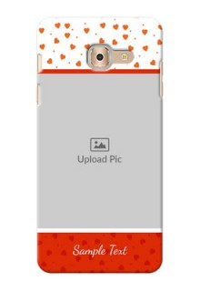 Samsung Galaxy On Max Orange Love Symbol Mobile Cover Design
