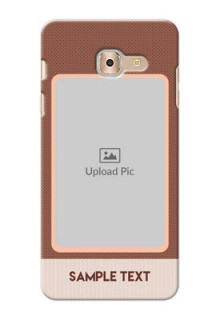 Samsung Galaxy On Max Simple Photo Upload Mobile Cover Design