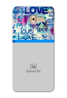 Samsung Galaxy On Max Colourful Love Patterns Mobile Case Design