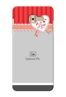 Samsung Galaxy On Max Red Pattern Mobile Cover Design
