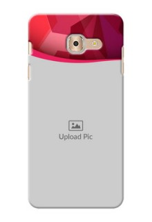Samsung Galaxy On Max Red Abstract Mobile Case Design