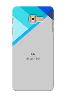 Samsung Galaxy On Max Blue Abstract Mobile Cover Design