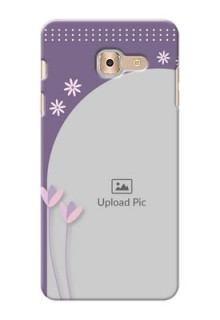 Samsung Galaxy On Max lavender background with flower sprinkles Design