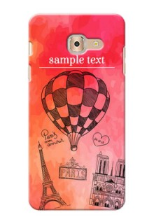 Samsung Galaxy On Max abstract painting with paris theme Design