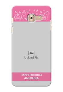 Samsung Galaxy On Max plain birthday line arts Design