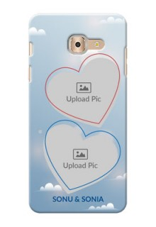 Samsung Galaxy On Max couple heart frames with sky backdrop Design