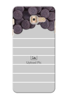 Samsung Galaxy On Max oreo biscuit pattern with white stripes Design Design