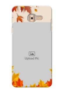 Samsung Galaxy On Max autumn maple leaves backdrop Design