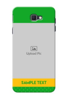 Samsung Galaxy On Nxt Green And Yellow Pattern Mobile Cover Design