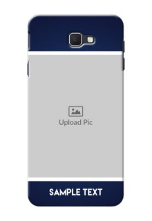 Samsung Galaxy On Nxt Simple Blue Colour Mobile Cover Design