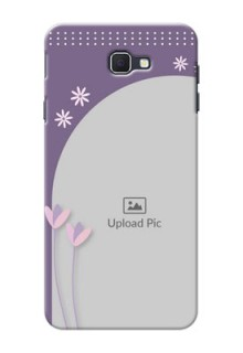 Samsung Galaxy On Nxt lavender background with flower sprinkles Design Design