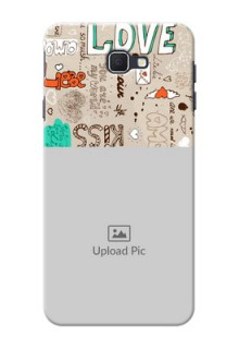 Samsung Galaxy On Nxt love doodle  pattern design Design Design