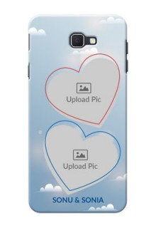 Samsung Galaxy On Nxt couple heart frames with sky backdrop Design