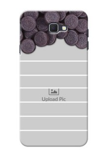 Samsung Galaxy On Nxt oreo biscuit pattern with white stripes Design Design