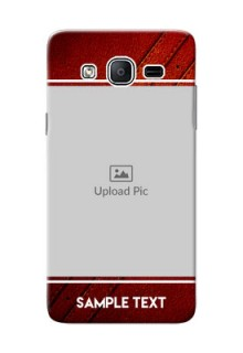 Samsung Galaxy On5 (2015) Leather Design Picture Upload Mobile Case Design