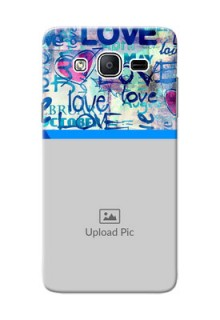 Samsung Galaxy On5 (2015) Colourful Love Patterns Mobile Case Design