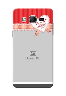 Samsung Galaxy On5 (2015) Red Pattern Mobile Cover Design
