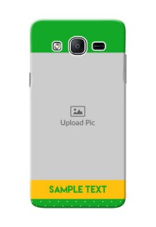 Samsung Galaxy On5 (2015) Green And Yellow Pattern Mobile Cover Design